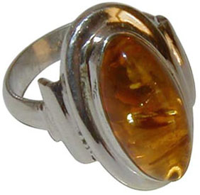 REAL AMBER RING OVAL-700916